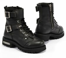 Mens Leather Motorcycle boots with side zipper on Sale altimate model New York