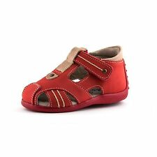 Baby & Toddler Red fisherman Sandals  | Wobbly Waddlers - SWING | leather