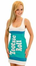 Juniors Tootsie Roll Fruit Rolls Candy Vanilla Aqua Costume Tank Dress