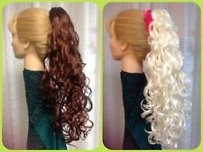 DELANIE MONA LISA long spiral curl  clip-on hairpiece 31 COLOR CHOICES pageant