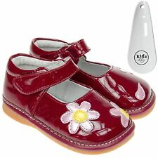 Girls Toddler Faux Leather Squeaky Shoes Patent Red - Wide Fit & Shoe Horn