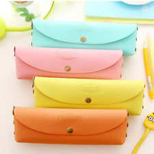 Hot Students Pencil Case Pen Bag Cosmetic Makeup Travel Pouch Pocket Candy Color