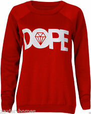 Sexe femmes dames dope diamond rouge imprimer sweat top sport