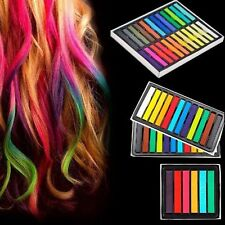 Kit di GESSETTI colorati per CAPELLI Set da 6 12 24 36 Pastelli Moda Hair Chalk
