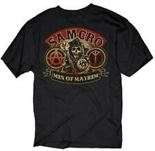 Adult Men's Crime Drama TV Show Sons Of Anarchy Men's Samcro Of Mayhem T-Shirt