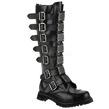 Demonia Reaper-30 Combat Boots - Gothic,Goth,Steampunk,Black,Boots,Steam,Punk,Le