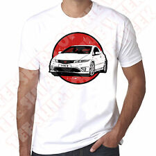 Honda Civic Type R Mens White T-shirt  Personalised number plate available