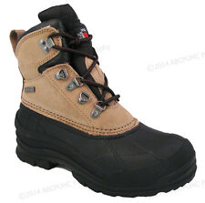 Women's Winter Boots Leather Insulated Waterproof Hiking Snow Shoes, Sizes:5-11