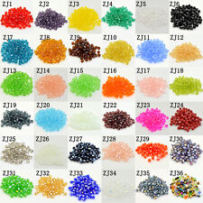 Wholesale Free shipping 100-1000 pcs 4mm Crystal #5301 Bicone beads U Pick color