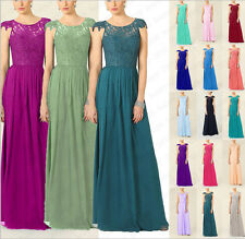 Hot Chiffon Floor Length Bridesmaid Dresses Formal Evening Gowns Size 6++++++18