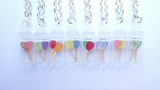 MINIATURE SWEET HEART LOLLIES JAR - CHOOSE FROM 8 LOLLY COLOUR OPTIONS