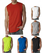 GILDAN Mens NEW Size S-2XL Ultra Cotton Sleeveless Muscle Sports T-Shirt 2700 FS