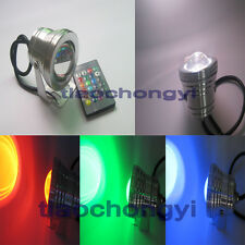 10W 12V RGB LED IP68 Underwater Spot Light Garden Pool Pond Aquarium Lamp Remote
