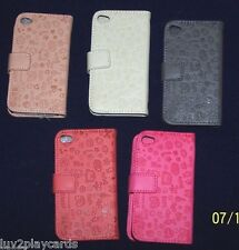 Flip Leather Wallet Case Love Teddy Design Cover For (1)Apple iPhone 4/4S Choice