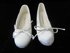 Children's White Dyeable Satin Ballet Slippers