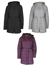PADDED COAT LADIES Ex BHS 8 10 12 14 16 18 20 22 BLACK, GREY OR BURGUNDY  rrp£45