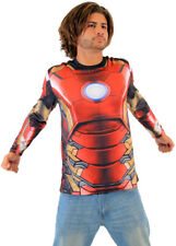 Adult Men's Marvel Comics Iron Man Sublimated LONG SLEEVE Costume T-Shirt Tee