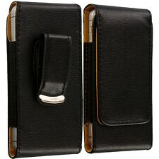 Vertical Belt Clip Black Tan Holster Pouch Holder Case Cover for Cell Phones