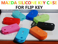 MAZDA Car Key Silicone Case Cover Mazda 2 3 6 MPS SP25 CX7 CX9 RX8 Flip Key T9