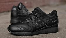 Shoes Asics Gel Lyte III 3 H534L 9090 Man running Triple Black Fashion casual
