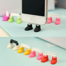 Shoes Stand Data Port Dust Plug For iPhone 4 iPhone5 Cute Pretty Interesting