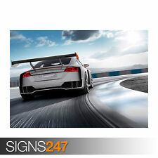 AUDI TT CLUBSPORT TURBO CONCEPT 2015 (0032) Car Poster -  Photo Poster Print Art