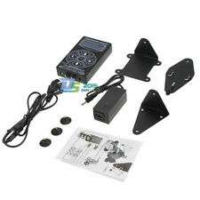 Pro Dual LCD Digital Tattoo Power Supply For Foot Pedal Liner Shader Kit Black