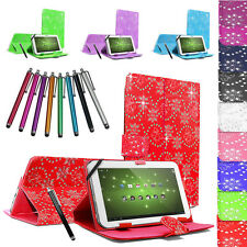 """Universal 7"""" PU Leather Tablet Case Cover Pouch Stand Folding Folio For All 7"""""""
