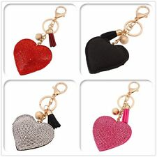 New Cute Key Ring Keyfob Keychains Gift Creative Heart Lovely Keyrings Chain