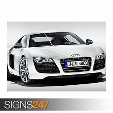 AUDI R8 V10 (0739) Car Poster -  Photo Picture Poster Print Art A0 A1 A2 A3 A4