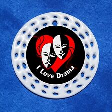 Love Drama Porcelain Gift 3 Formats Masks Theater Actor Actress Major Queen