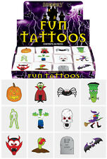HALLOWEEN PARTY KIDS TEMPORARY TATTOOS TRICK OR TREAT GIFT FAVOURS PARTY BAG