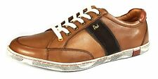 POD Kyle Tan Brown Lace Up Casual Leather Mens Shoes