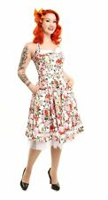 Womens Rockabilly Orchid Dress 40s 50s Swing Party Pinup Retro Vintage Day Tea