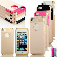 Shockproof Dirt Proof Heavy Duty Hybrid Matte Cover Case For Apple iPhone 5 5S