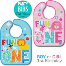BOY OR GIRL 1ST FIRST BIRTHDAY FUN TO BE ONE BIB PARTY SUPPLIES DECORATIONS