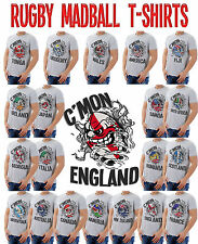 Rugby Madball Mens T-Shirt Choose Your Team Perfect For World Cup Tri 6 Nations