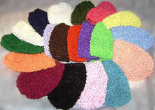 """Wholesale baby Toddler Girls Crochet beanie 12x 6"""" any colour combo you choose"""