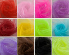 """10 Yards Organza Fabric 60"""" Wide High Quality Sheer Draping Party Wedding USA"""