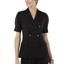 NWT Jean Paul Gaultier BLAZER Ladies Jacket SMALL, MEDIUM Black Pinstripe Lined