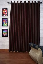 "Brown Faux Silk Curtains, 51"" (130cm) Wide- Choice of Plain Top, Length & Lining"