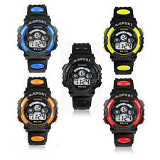 New Mens & Boy's Digital LED Quartz Alarm Date Waterproof Sports Wrist Watch UK