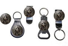 Silver State of Texas Seal Bottle Opener Key Fob Key Holder or Money Clip