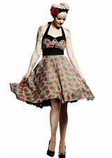 Hell Bunny - Charlie 50s dress - Leopard Print Roses pin up swing rockabilly cot