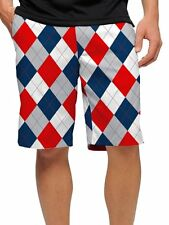 NWT Men's Loudmouth Golf DIXIE Shorts John Daly 32 34 36 38 40 42 Red Blue White