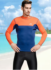 Men's 2mm Neoprene CR Jacket Scuba Snorkeling Suit dive Long Sleeve Diving Tops
