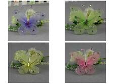 """6pc Pink Nylon Stocking Butterfly Wedding Decorations 2.8"""" Free Shipping"""