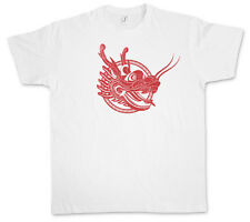 CHINESE TATTOO DRAGON HEAD T-SHIRT - Asia Dragon Oldschool Rockabilly T-Shirt