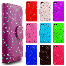 Phone Case Cover Diamond PU Leather Wallet For All Samsung Galaxy & Apple Models