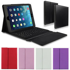 Bluetooth Keyboard Folding Smart Light Leather Case Cover For iPad Air 5 5th